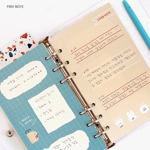 Free note - ROMANE Donat Donat twinkle 6-ring dateless weekly planner
