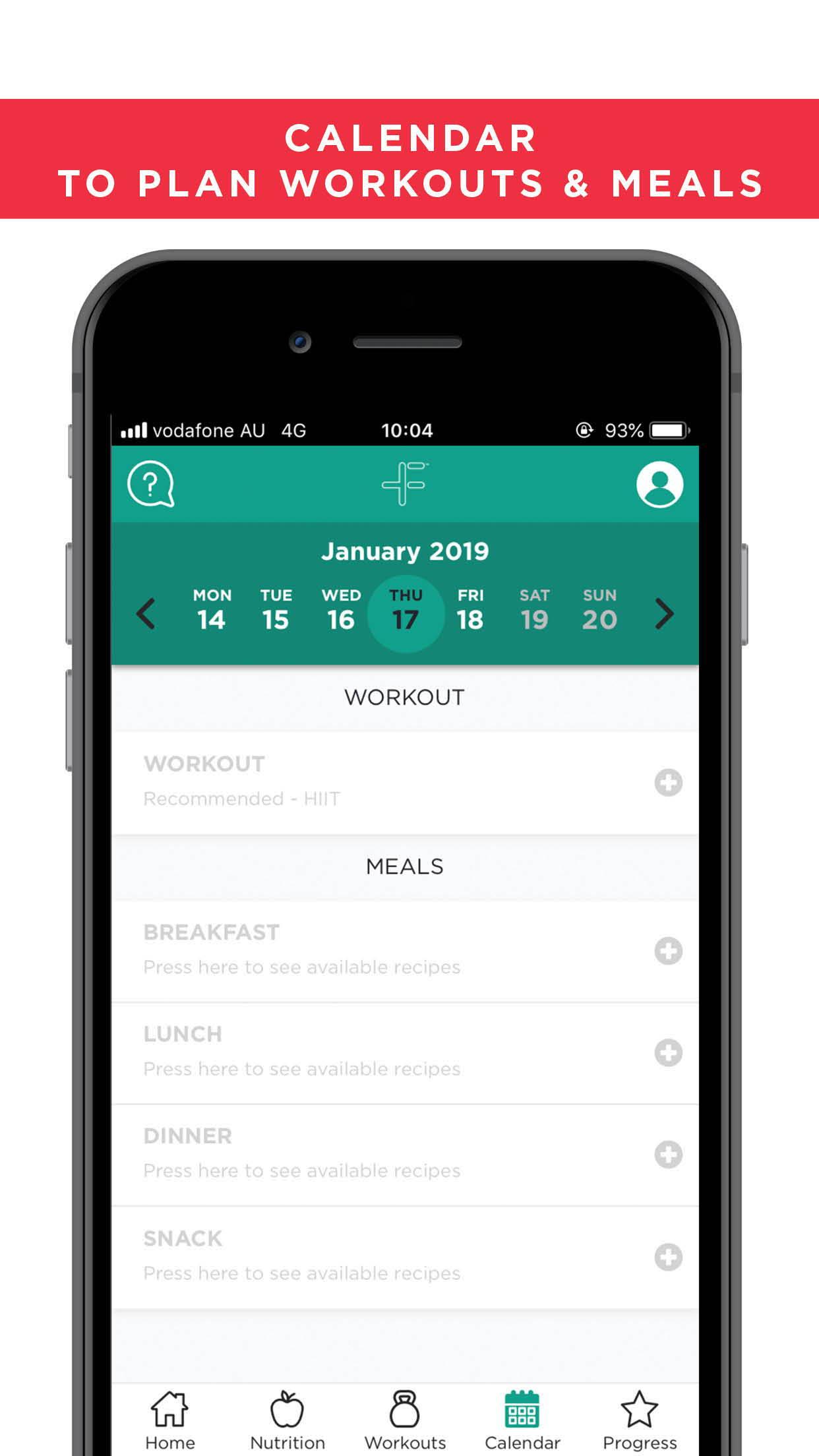 FitazFK App store preview - Calendar