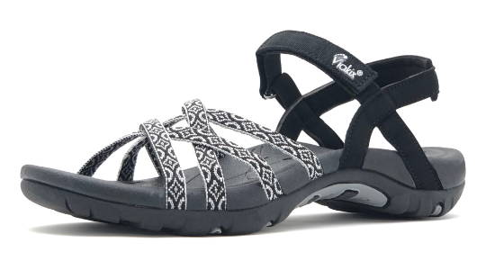 Comfortable walking sandals for women with arch support