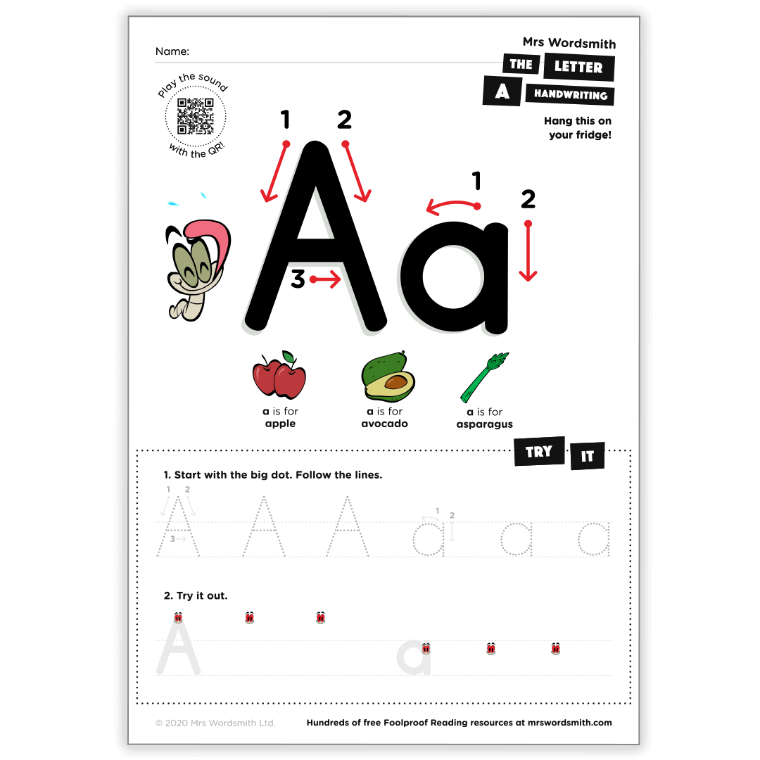 The letter A activity