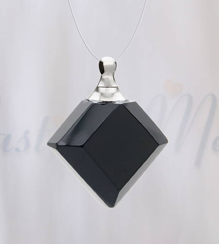 Ebony Diamond Rearview Mirror Guardian Pendant