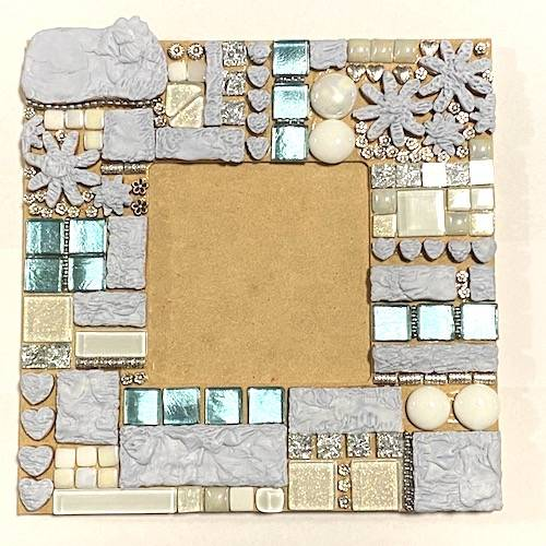 blue tac handmade polymer clay tiles