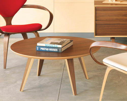 These round coffee tables will add form and function to your living space.