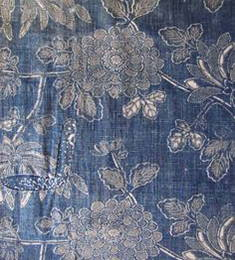 Vintage blue floral fabric
