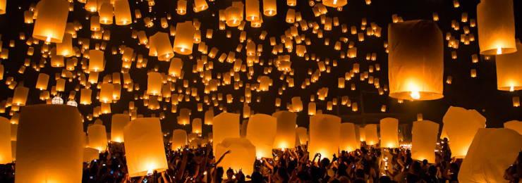Enjoy Yi Peng Lantern Festival in Chiang Mai