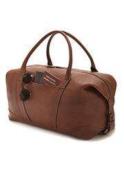 Luca Faloni Leather travel bag made in Italy