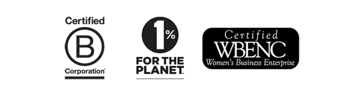 Jelt is a certified B Corporation, a certified women-owned business and is a partner of 1% for the Planet.