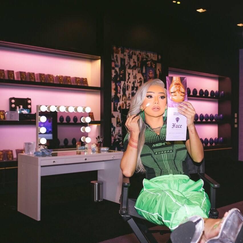 Nikita Dragun at the Dragun Beauty Pop Up in Los Angeles