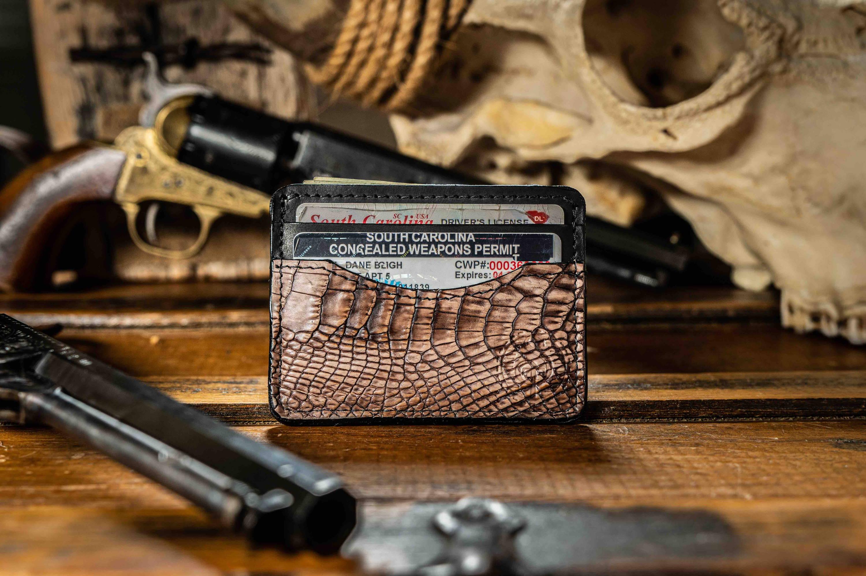 alligator skin wallet