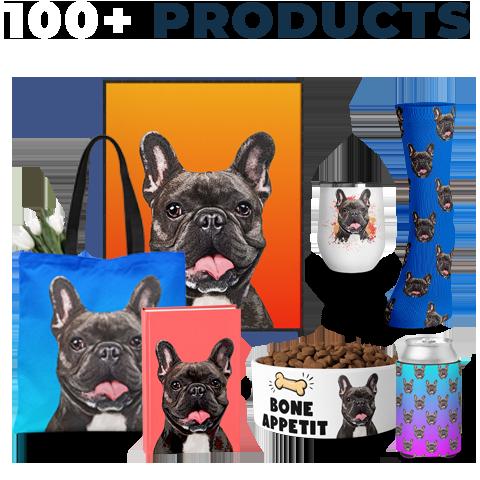 custom french bulldog pop art on 100+ products