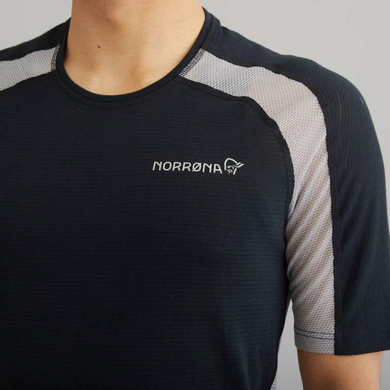 NORRONA(ノローナ)/ビティホーン ウールTシャツ/ブラック/MENS