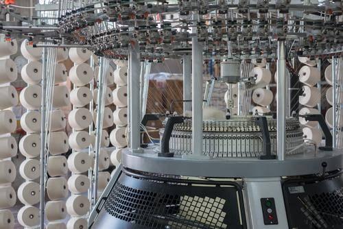 A hemp factory showing spools of hemp string