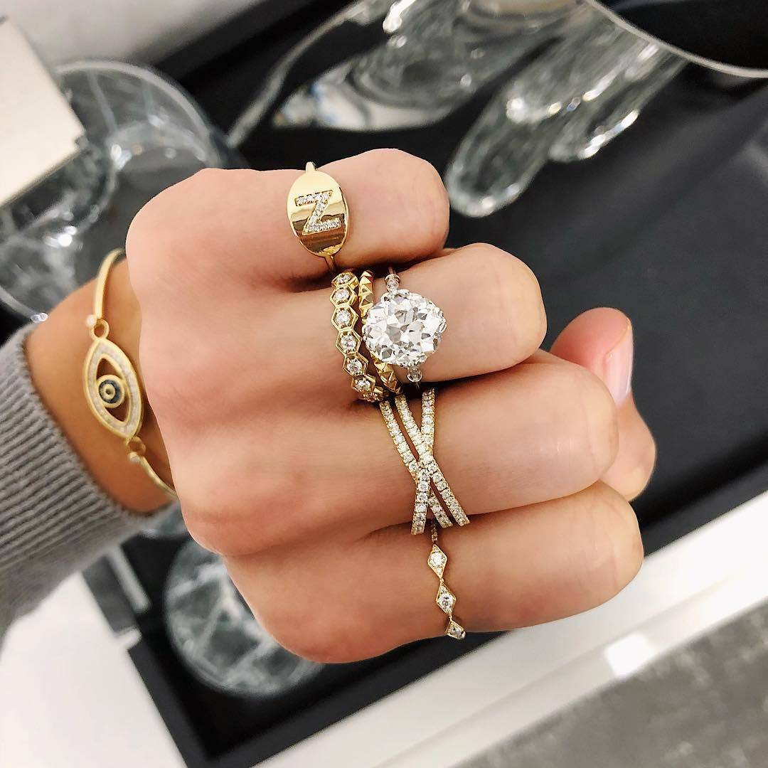 How To Create A Mixed Metal Engagement Ring Wedding Band Pairing Ring Concierge