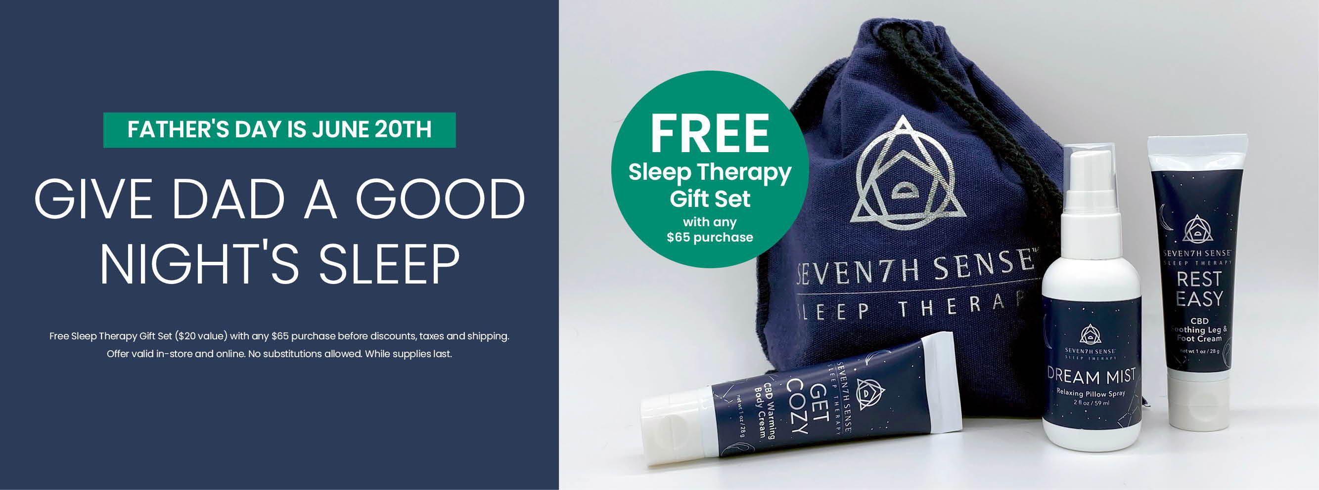 Free Sleep Therapy Gift Set with any $65 purchase
