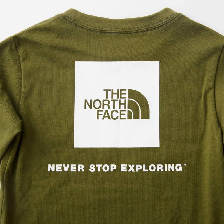 THE NORTH FACE(ザ・ノース・フェイス)/ロングスリーブスクエアロゴティー/ネイビー/KIDS