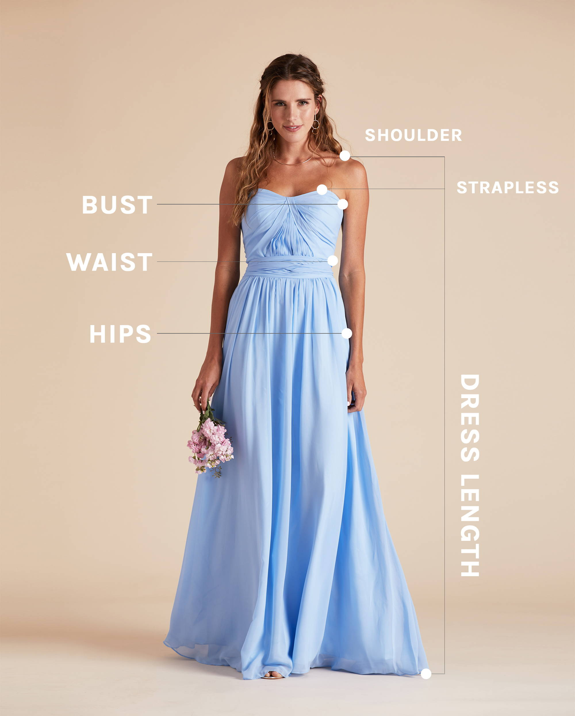 How To Measure Bridesmaid Dress Birdy Grey
