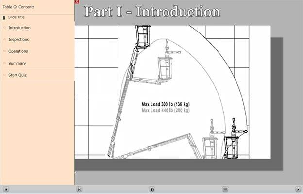 Aerial Lift E-Learning Introduction