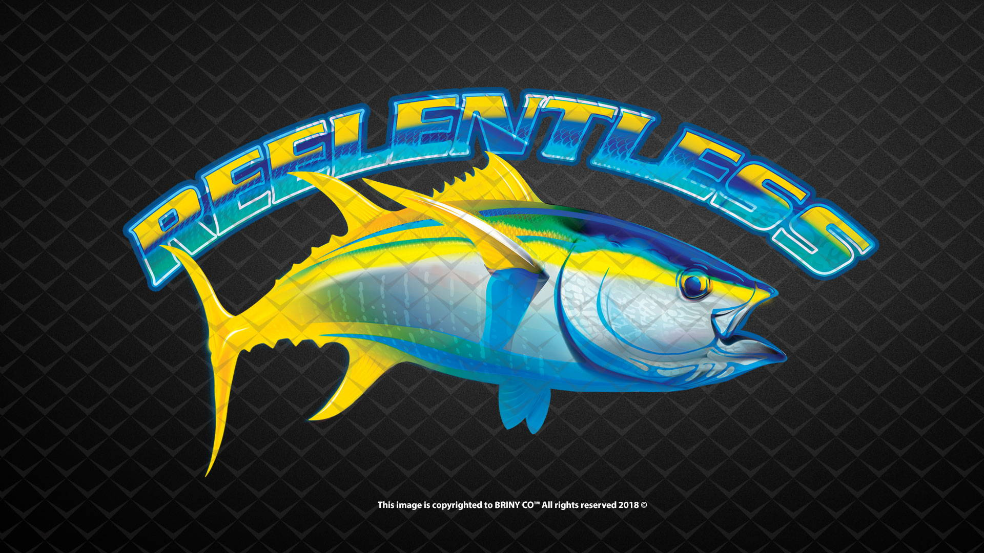 briny custom fish artwork