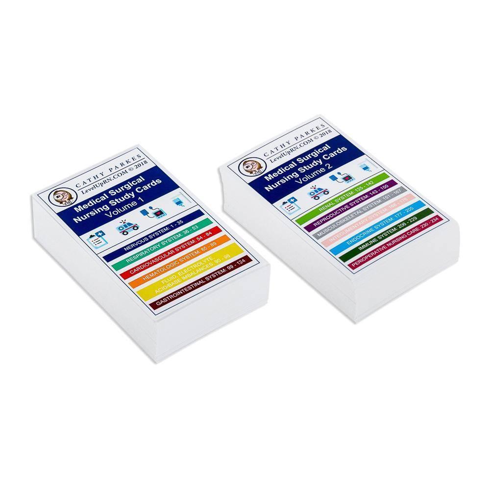 LevelUpRN MedSurg Flashcards Volume 1 & 2