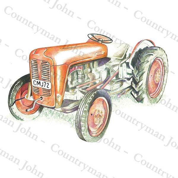 Countryman John Tractor Artwork - 1602
