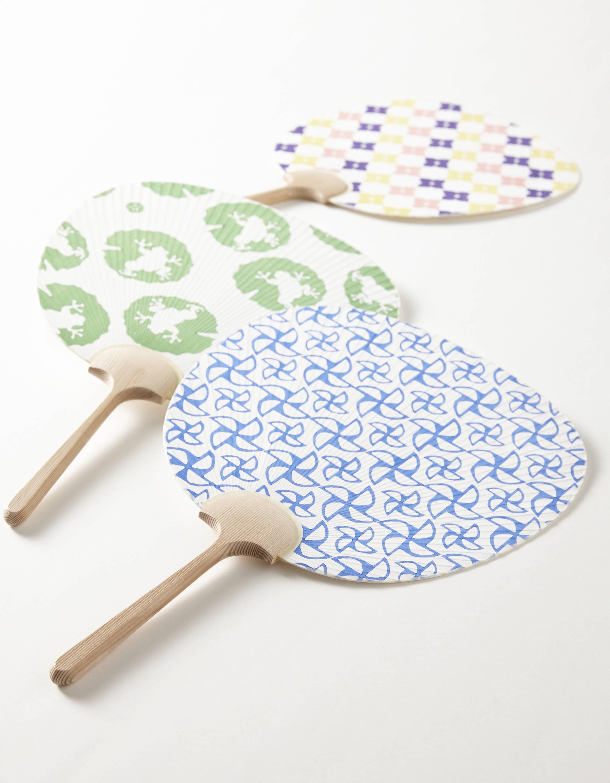 Japanese Uchiwa fan with fun patterns