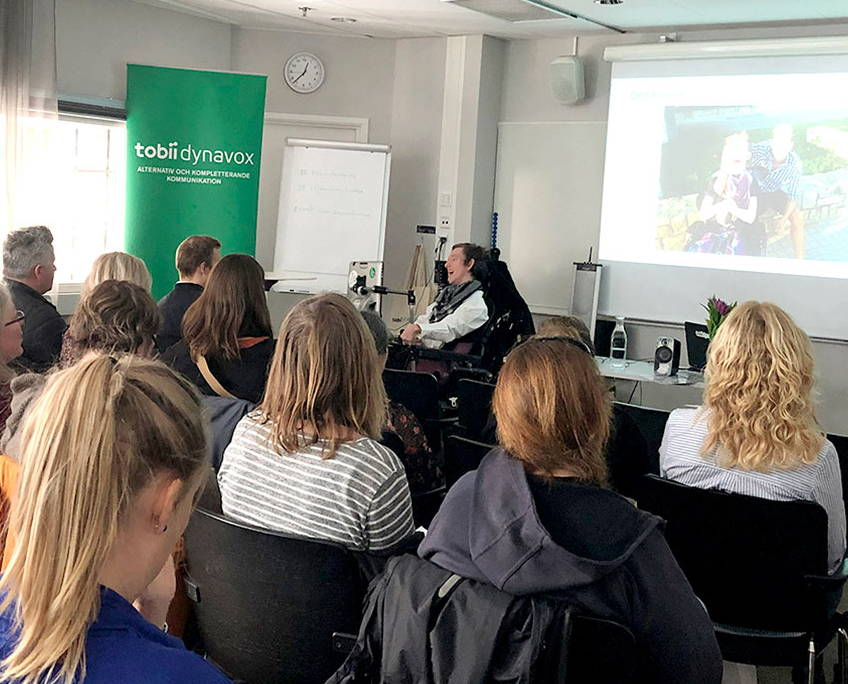 UK-Anwender präsentieren bei einer Tobii Dynavox Trainingsveranstaltung