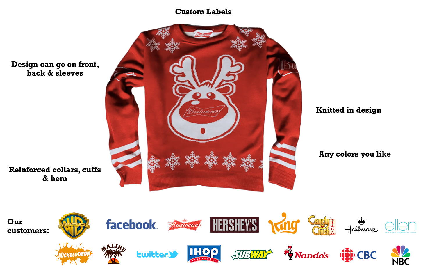 Image of Custom Christmas Jumper for Budweiser