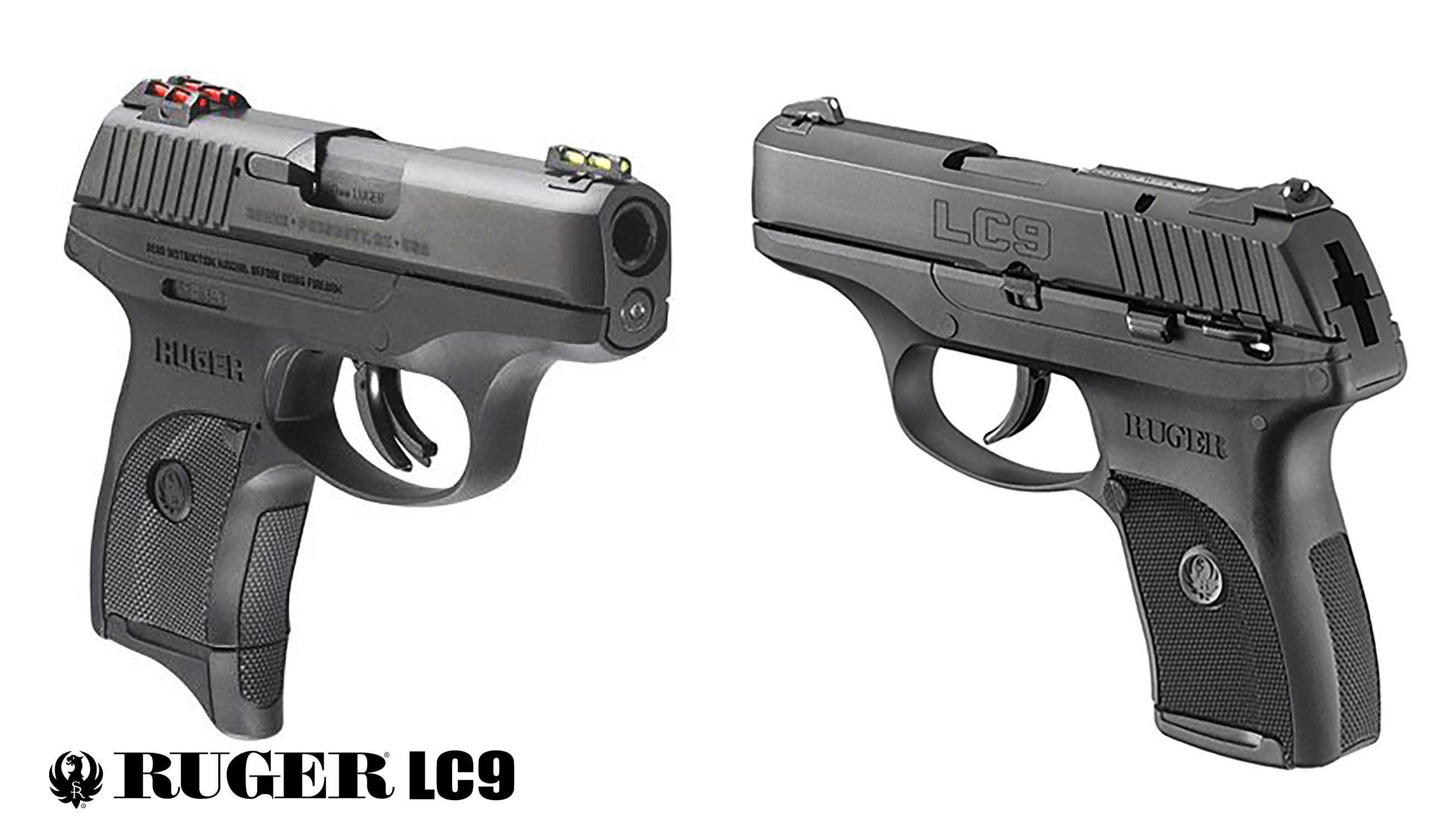 Ruger LC9 front rear views