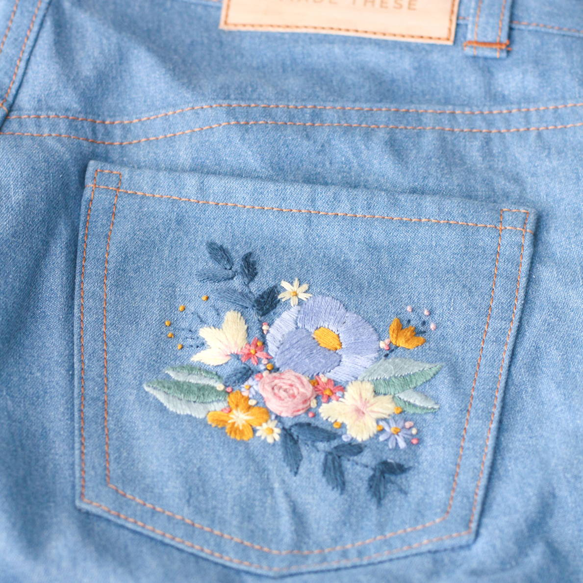 Tips for embroidered jeans