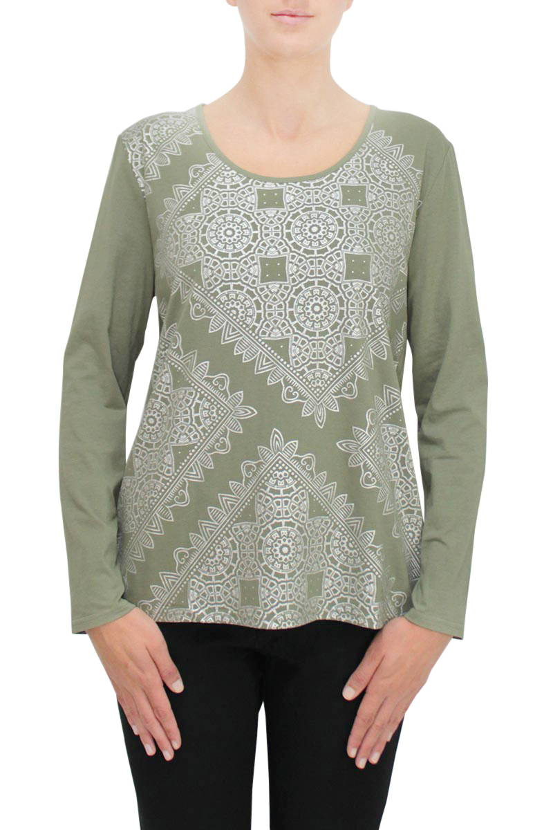 Kaleidoscope Top - Khaki