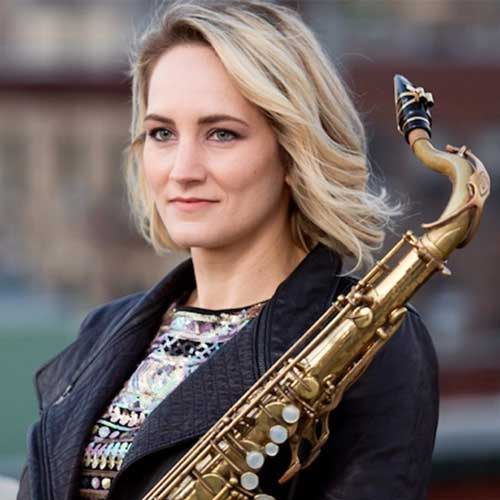 New York saxophonist and composer Roxy Coss recommends Key Leaves saxophone care products because they stop sticking sax pads and keep the saxophone cleaner and help keep the pad dryer