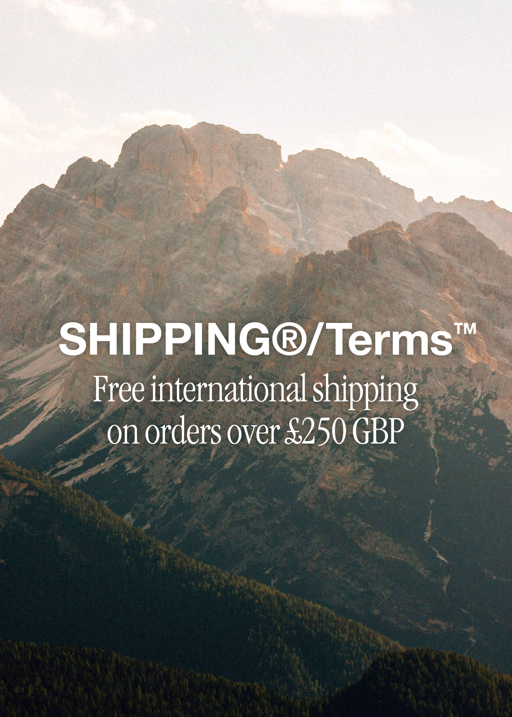 Shipping terms.