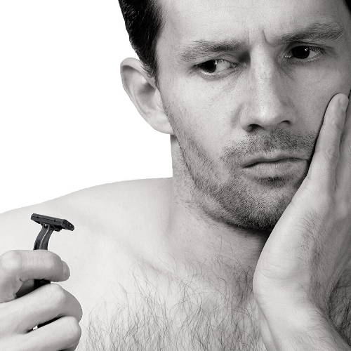 Guy Thinking Shaving Resolution 2020