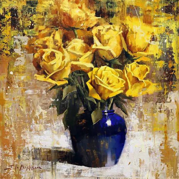 Floral Art. Jerry markham Fine Art. Sorrel Sky Gallery. Santa Fe Art Gallery.