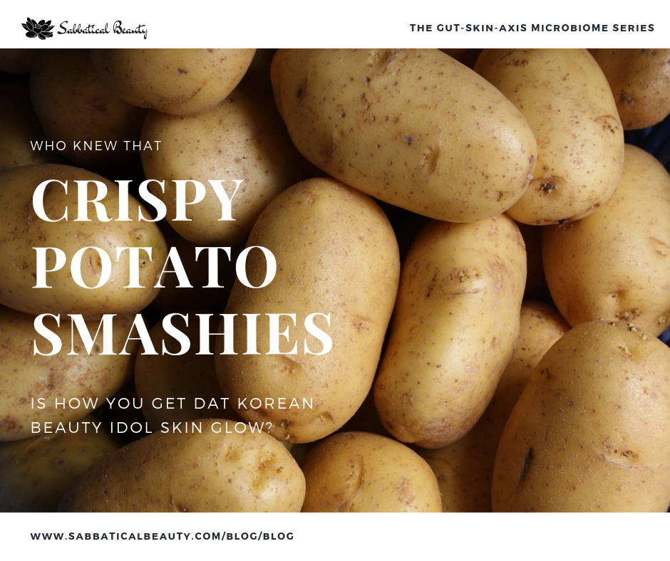 Crispy potato smashies recipe for healthy gut and skin microbiome