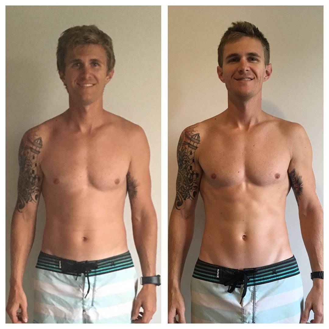 Fitness Men before and after