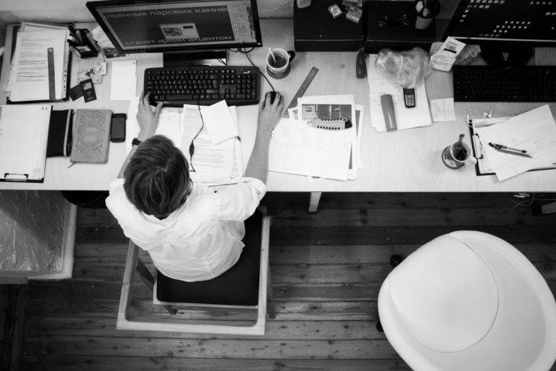 Person Working At A Desk