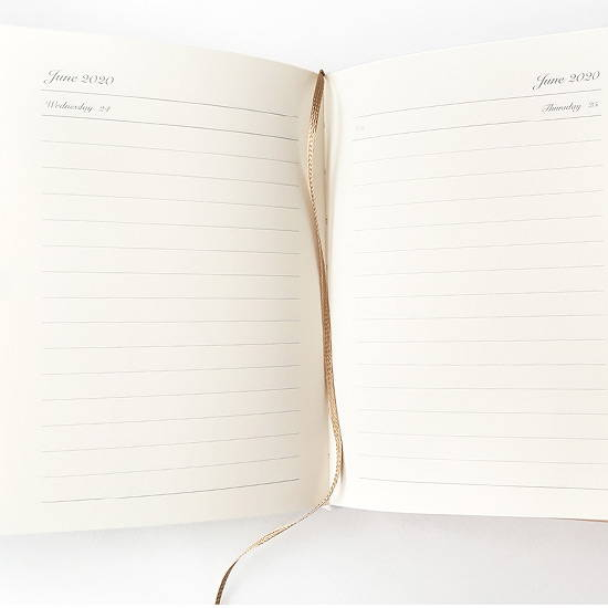 Bookmark - O-CHECK Eco-friendly 2020 A6 dated daily diary planner