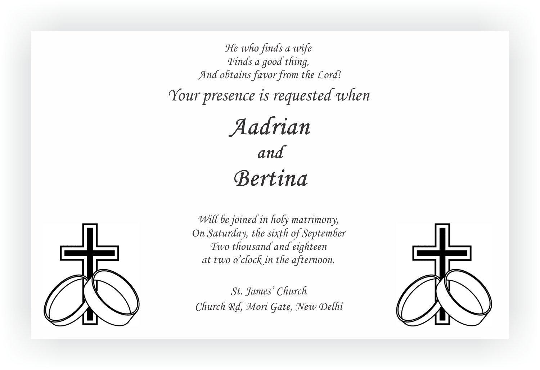 Christian Wedding Invitation Wordings CHOCOCRAFT