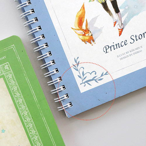Recycled paper - Little prince story spiral undated monthly diary notebook