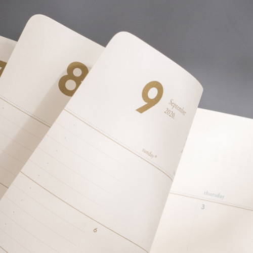 120gsm paper - 2020 Making memory medium dated monthly planner