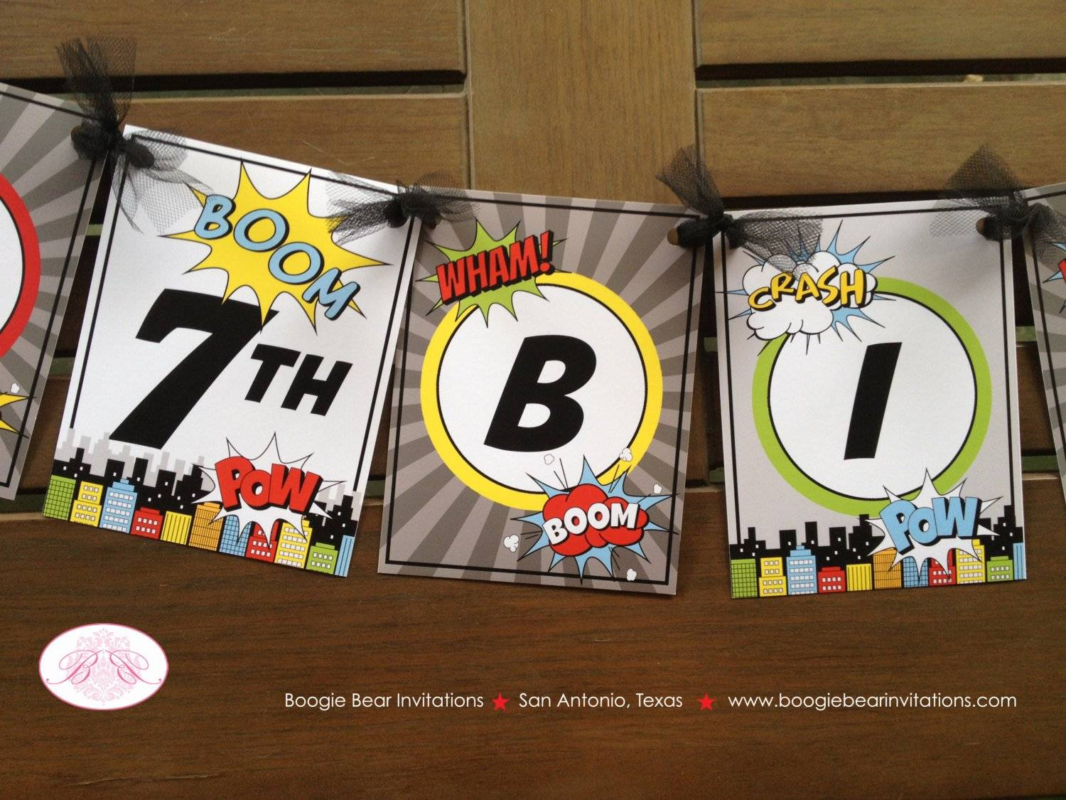 Superhero Birthday Max Theme Happy Birthday Banner