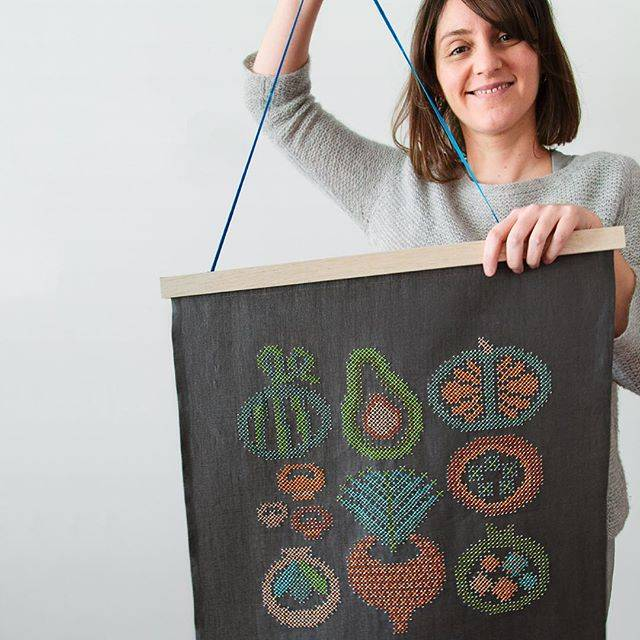 Embroidery artist Karen Barbe