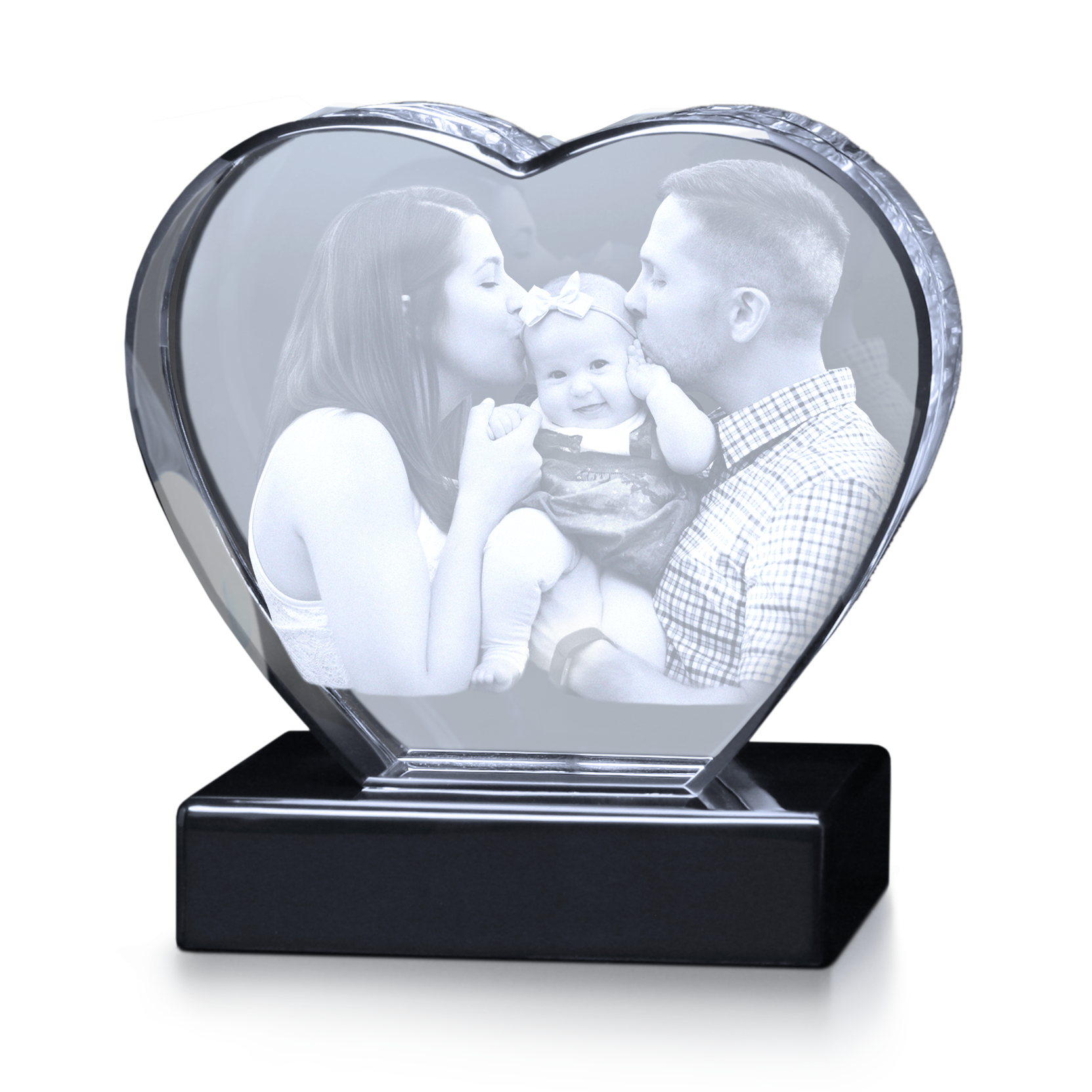crystal heart 3d gifts