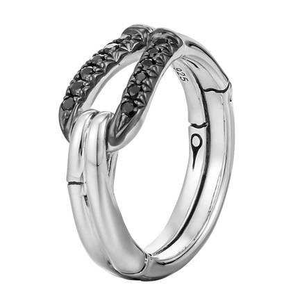 John Hardy Black Sapphire Loop and Hook Ring