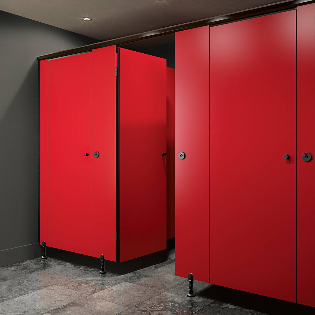 Full privacy toilet partitions - european style toilet partitions
