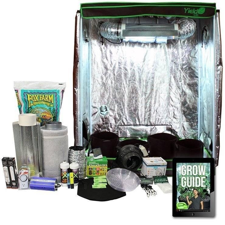 2x4ft HID Soil Complete Indoor Grow Tent System