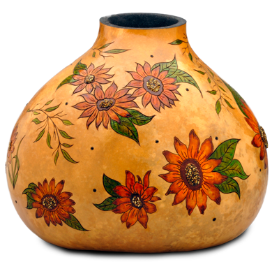 Gourd art by Dianne Connelly