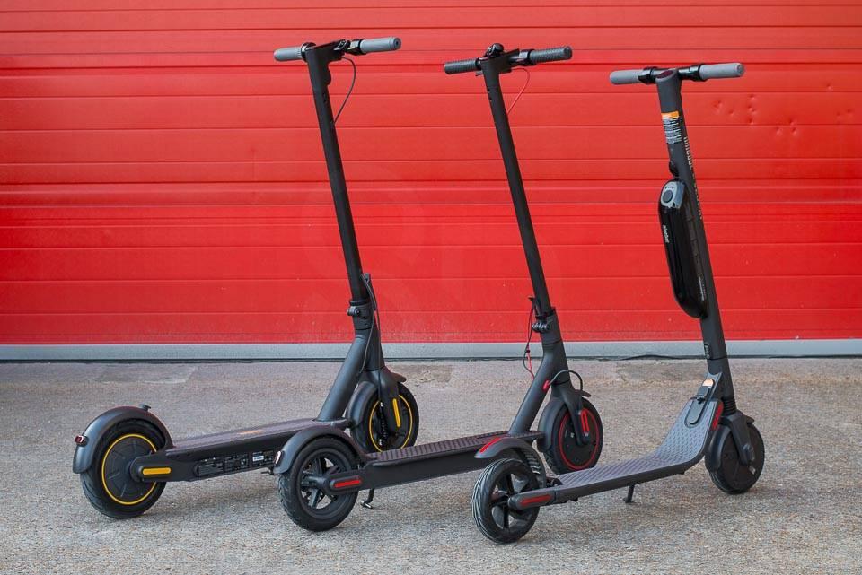 Ninebot Max G30 電動滑板車與 M365 Pro Segway Ninebot ES4 相比