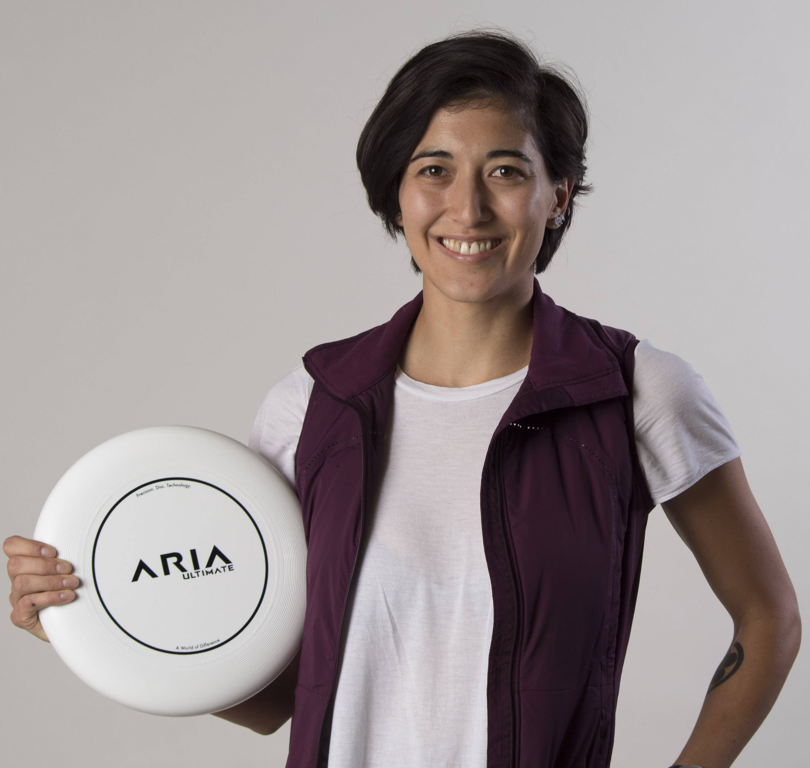 ARIA professional official ultimate flying disc for the sport commonly known as 'ultimate frisbee' rena kawabata